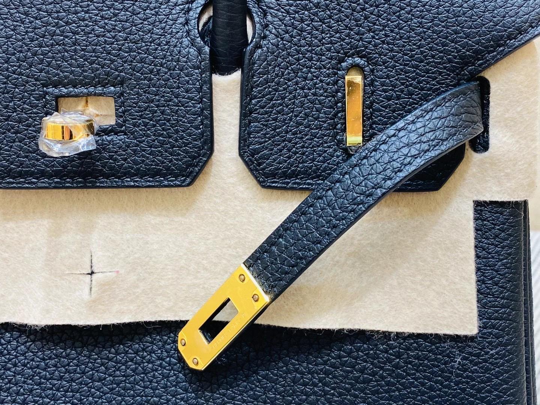 法国爱马仕 Hermes 铂金包 Birkin 25CM Togo皮 松柏绿 金扣 纯手工定制