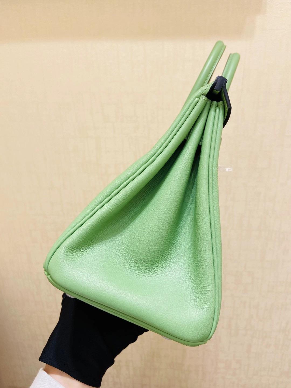 法国爱马仕 Hermes 铂金包 Birkin 25CM SWIFT皮 3i牛油果绿 银扣 纯手工定制