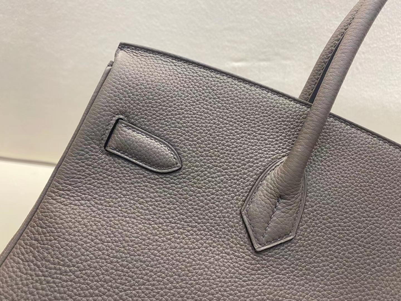 Hermès(爱马仕)Birkin 铂金包 法国togo 8F 锡器灰 顶级纯手工 现货 银扣 35cm
