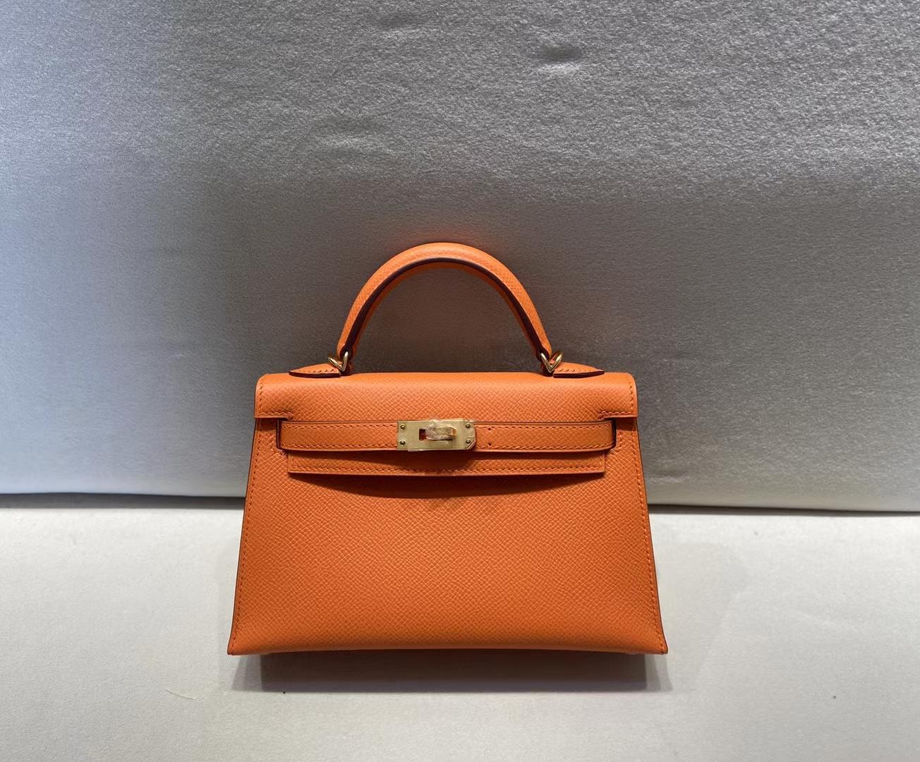 Hermès(爱马仕)miniKelly 二代 epsom 经典橙 顶级品质 现货