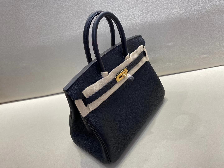 Hermès(爱马仕)birkin 25cm 金扣 法国togo 黑色 ck89 顶级纯手工 现货