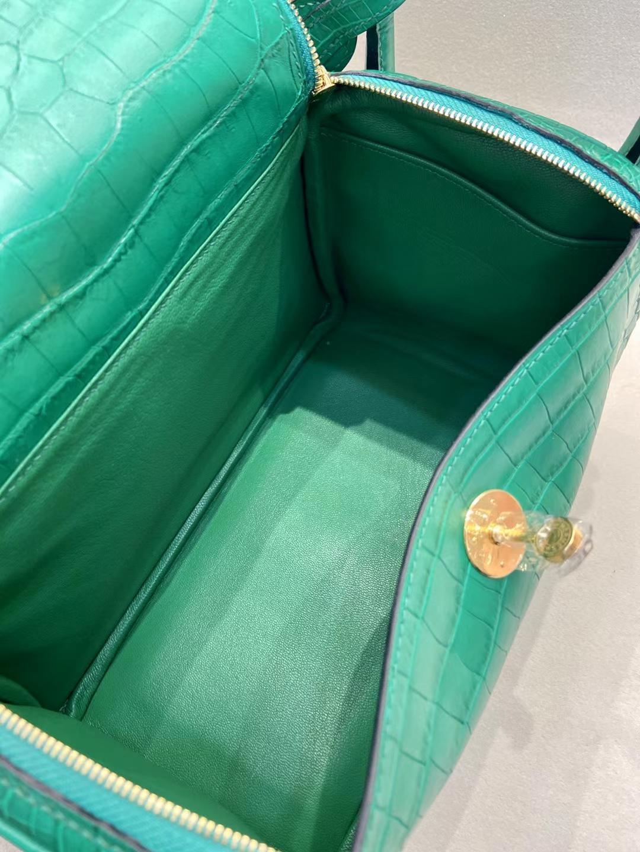 Hermès(爱马仕)Lindy 26cm 金扣 雾面鳄鱼 维罗纳绿 顶级纯手工
