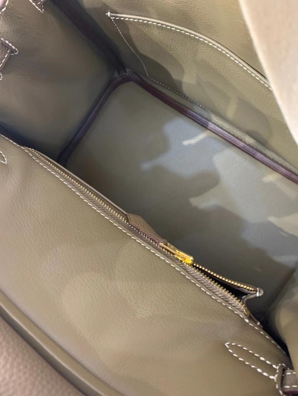 Hermès(爱马仕)Birkin 铂金包 法国togo 大象灰 顶级纯手工 现货 金扣 25cm