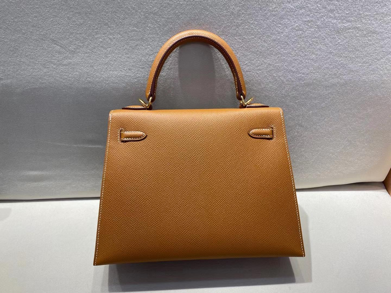 Hermès(爱马仕)Kelly 25cm 金扣 epsom 金棕色 ck37 顶级纯手工 现货