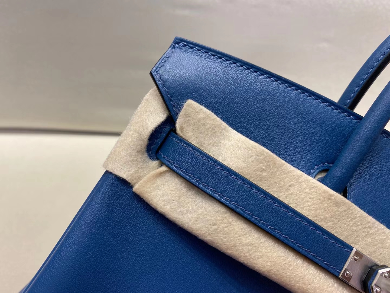 Hermès(爱马仕)birkin 25cm 银扣 swift S4 深邃蓝 顶级纯手工 现货