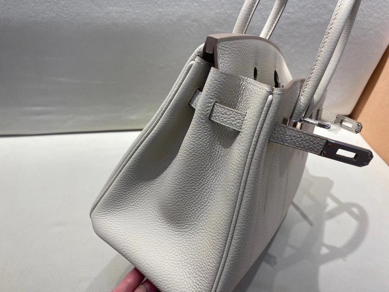 Hermès(爱马仕)birkin 25cm 银扣 法国 togo 奶昔白 c10 顶级纯手工 现货