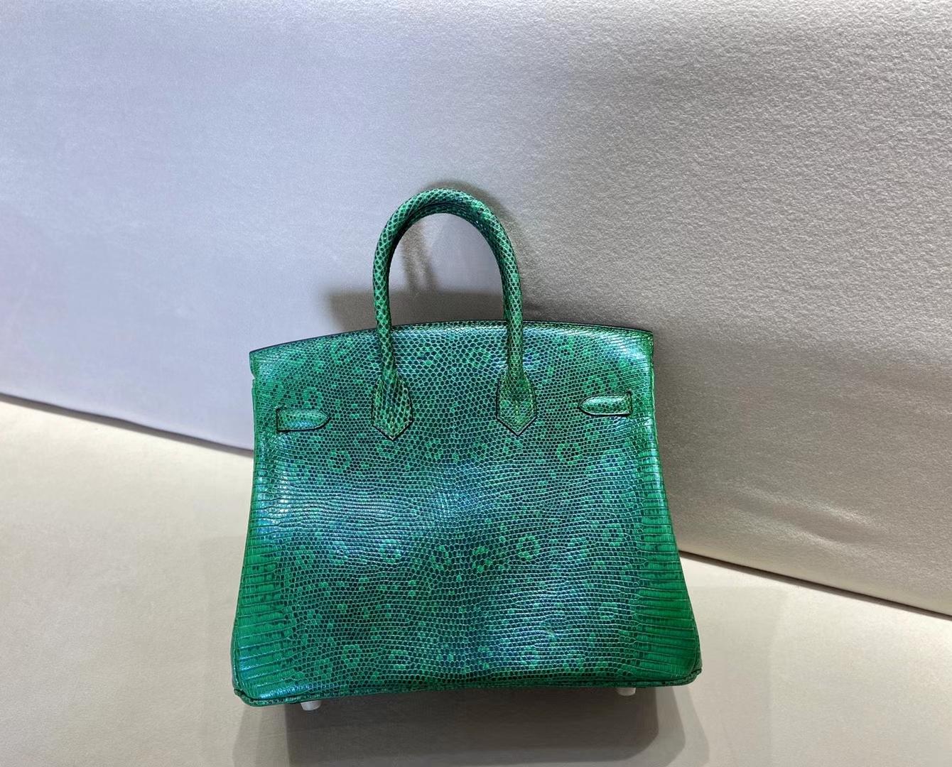 Hermès(爱马仕)birkin 25cm 祖母绿渐变 雪花色 金扣 顶级纯手工