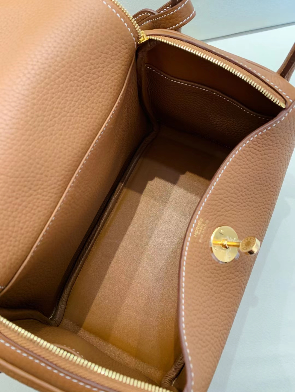 Hermès(爱马仕)Lindy 26cm 金扣 TC 金棕色 顶级工艺 现货