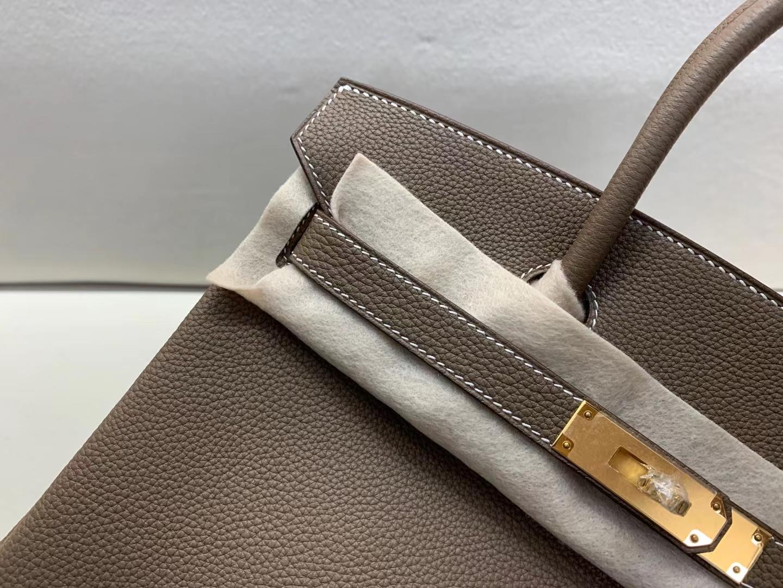 Hermès(爱马仕)birkin 30cm 金扣 法国togo 大象灰 顶级纯手工现货