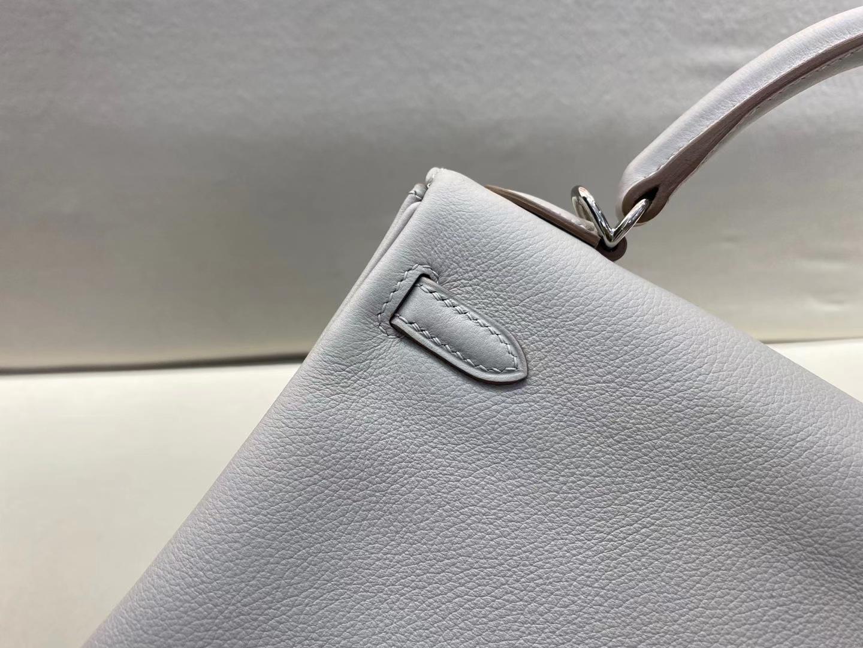 Hermès(爱马仕)Kelly 25cm 银扣 evercolor 珍珠灰 8o 顶级纯手工 现货