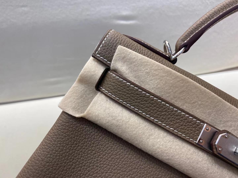 Hermès(爱马仕)Kelly 28cm 银扣 法国togo 大象灰 顶级纯手工 现货