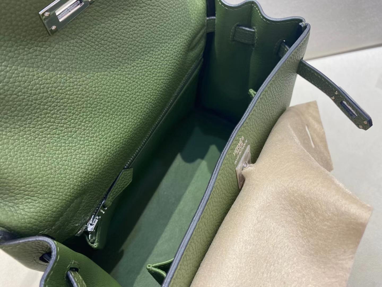 Hermès(爱马仕)Kelly 25cm 银扣 法国togo 丛林绿 V6 顶级纯手工 现货