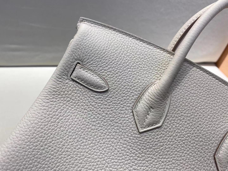Hermès(爱马仕)birkin 25cm 银扣 法国togo c10 奶昔白 客订
