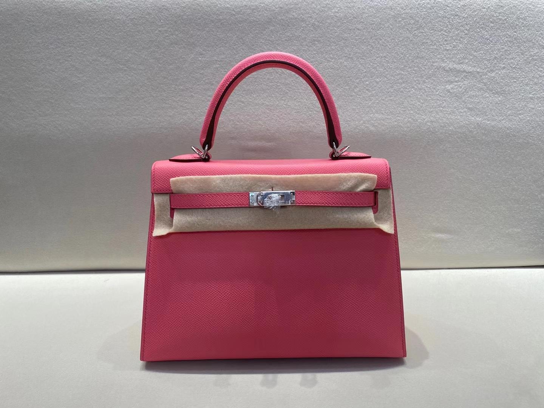 Hermès(爱马仕)Kelly 25cm 银扣 epsom 8W 唇膏粉 顶级纯手工 现货