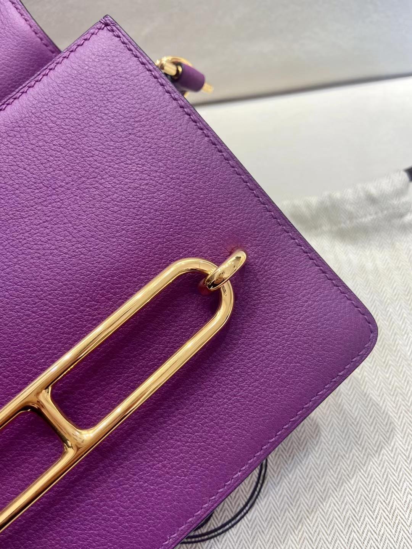 Hermès(爱马仕)猪鼻子 roulis evercolor皮 p9 海葵紫 金扣 全手工