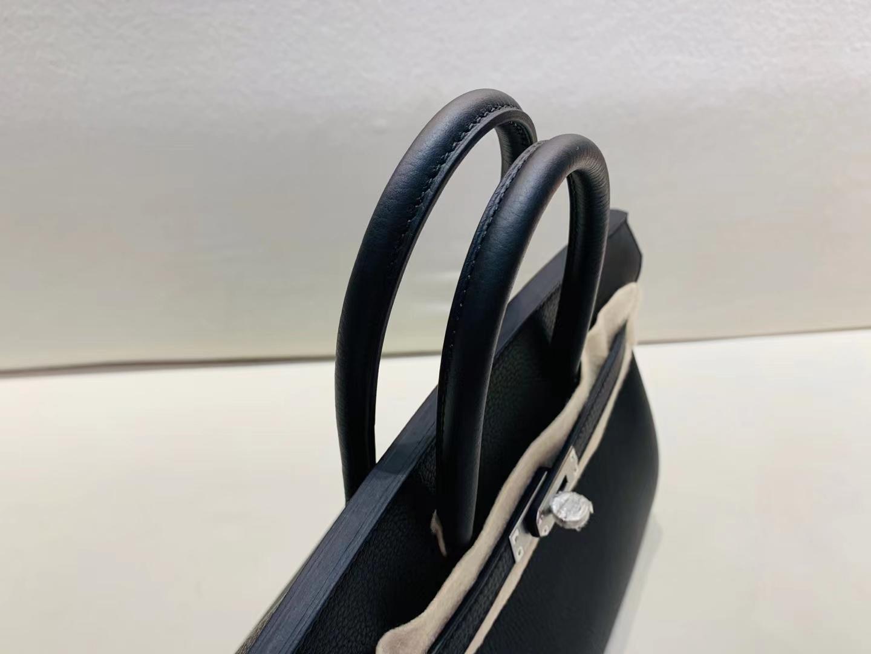 Hermès(爱马仕)birkin 25cm 金扣 法国togo 黑色 顶级纯手工现货