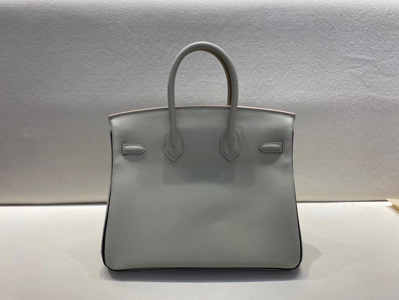Hermès(爱马仕)birkin 25cm 银扣 ck80 珍珠灰拼葡萄紫 chevre 山羊皮 全手工顶级手缝