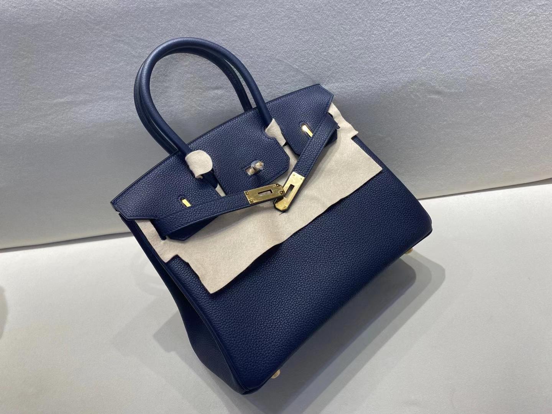 Hermès(爱马仕)birkin 30cm 金扣 法国togo 2Z午夜蓝 顶级纯手工制作 现货