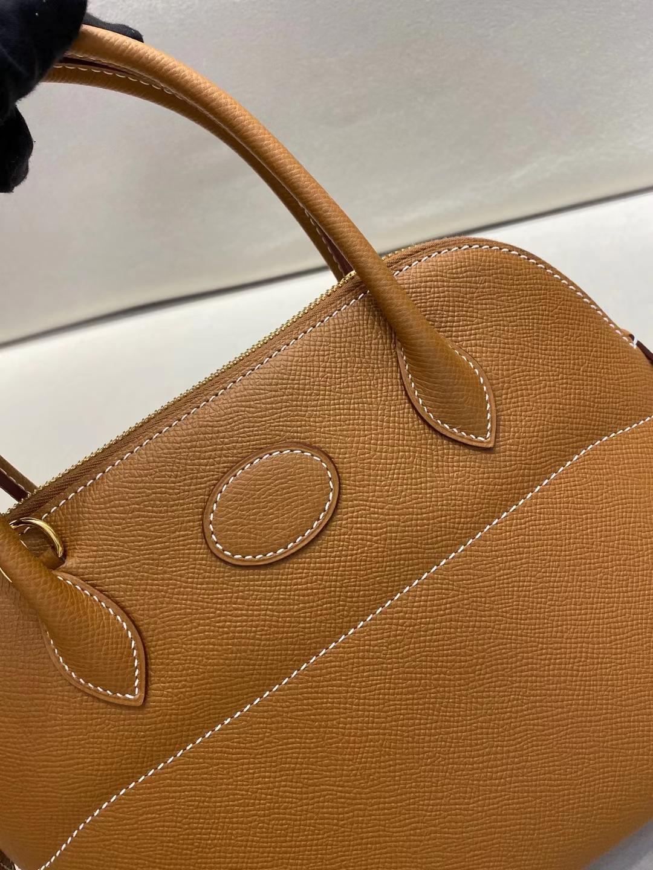 Hermès(爱马仕)bolide 保龄球包 金棕色 epsom皮 金扣 27cm 定制版型
