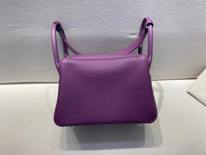 Hermès(爱马仕)Lindy 26cm 银扣 TC P9海葵紫 顶级手工