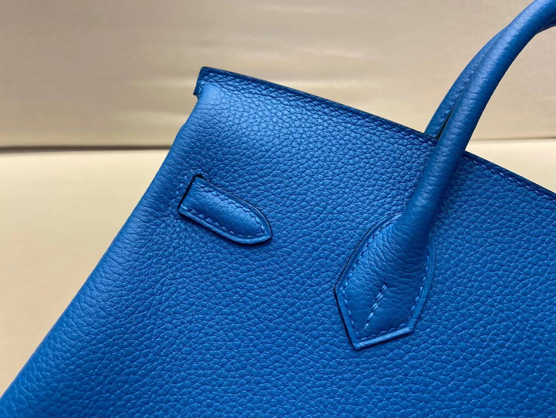 Hermès(爱马仕)birkin 25cm 金扣 法国togo B3 坦桑尼亚蓝 顶级纯手工 现货