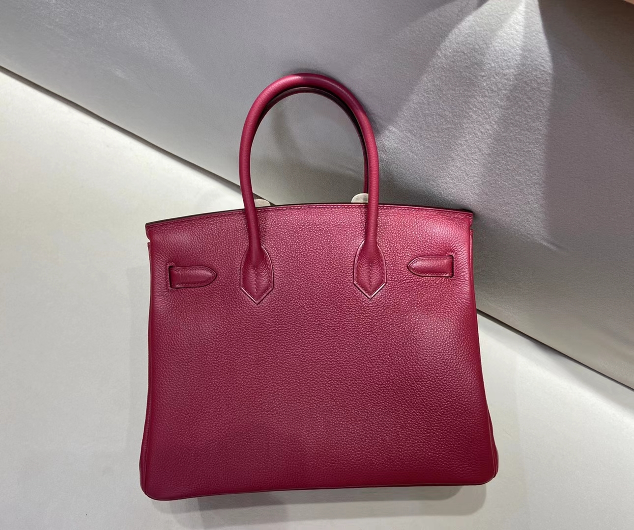 Hermès(爱马仕)birkin 30cm 银扣 法国石榴红 togo 顶级纯手工