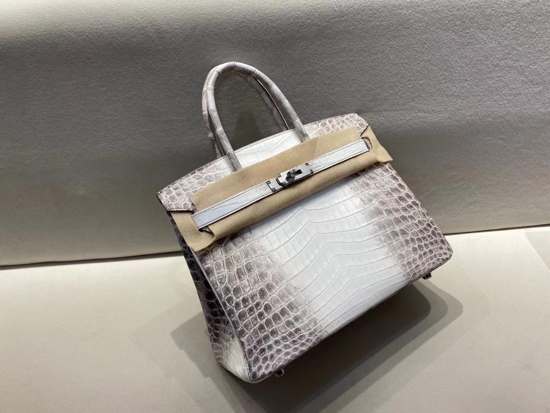 Hermès(爱马仕)Birkin 30cm Himalaya 喜马拉雅 包中皇后 完美品相 银扣 顶级工艺
