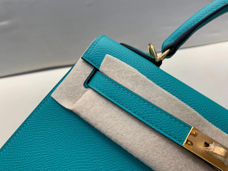 Hermès(爱马仕)Kelly 凯莉包 epsom U1维罗纳绿 顶级纯手工 金扣 25cm 现货