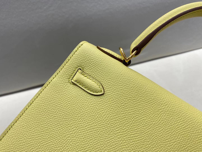 Hermès(爱马仕)Kelly 凯莉包 epsom 1Z小鸡黄 复出色 顶级品质 25cm 金扣