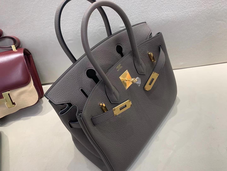 Hermès(爱马仕)birkin 铂金包 法国togo 8F 锡器灰 30cm 顶级纯手工