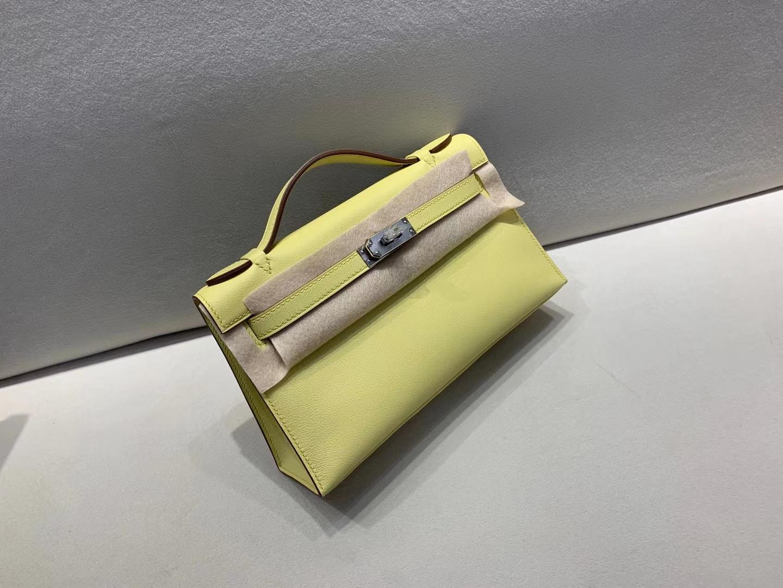 Hermès(爱马仕)mini Kelly 迷你凯莉 swift 1Z 小鸡黄 一代 银扣 顶级纯手工