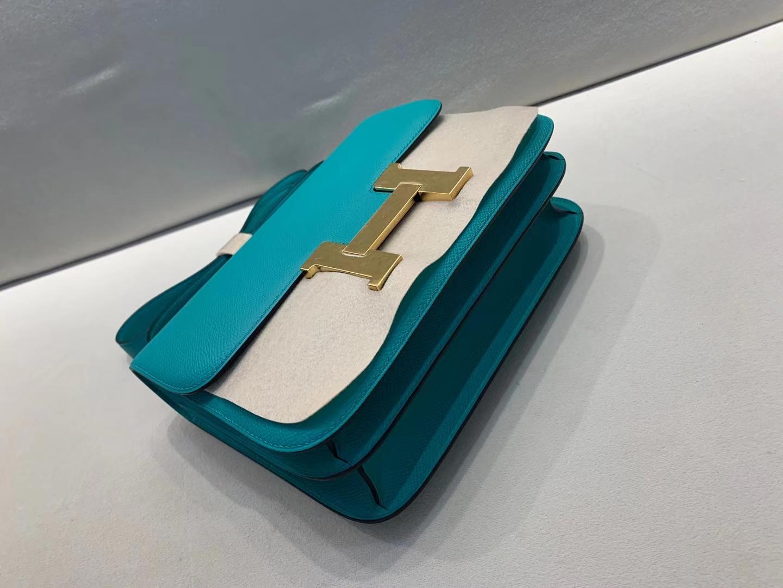 Hermès(爱马仕)Constance 空姐包 epsom U1维罗纳绿 顶级纯手工 金扣 24cm 现货