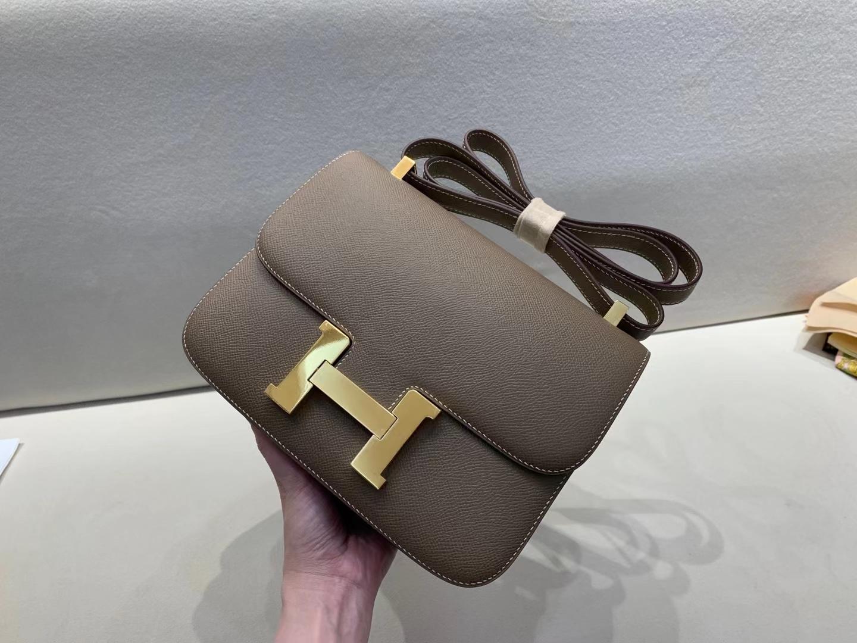 Hermès(爱马仕)Constance 空姐包 epsom ck18大象灰 国民灰 24cm 金扣