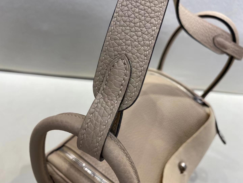 Hermès(爱马仕)Lindy 琳迪包 TC 斑鸠灰 顶级纯手工 现货 26cm 银扣