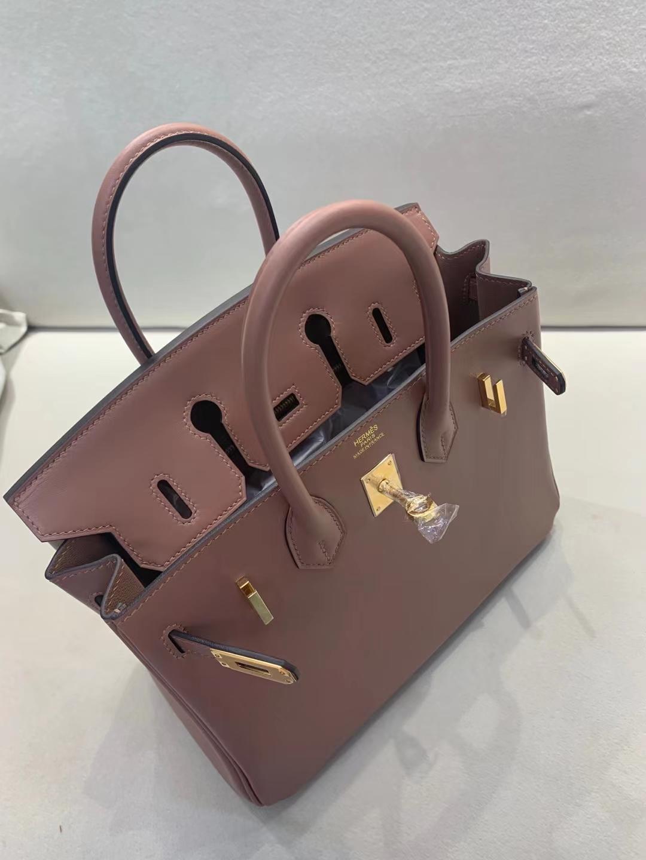 Hermès(爱马仕)Birkin 铂金包  jonathan皮 D0 藕粉色 金扣 顶级纯手工 25cm 现货