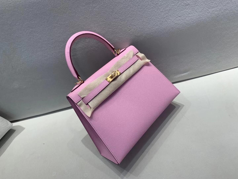 Hermès(爱马仕)Kelly 凯莉包 epsom X9 锦葵紫 25cm 金扣 顶级纯手工 现货