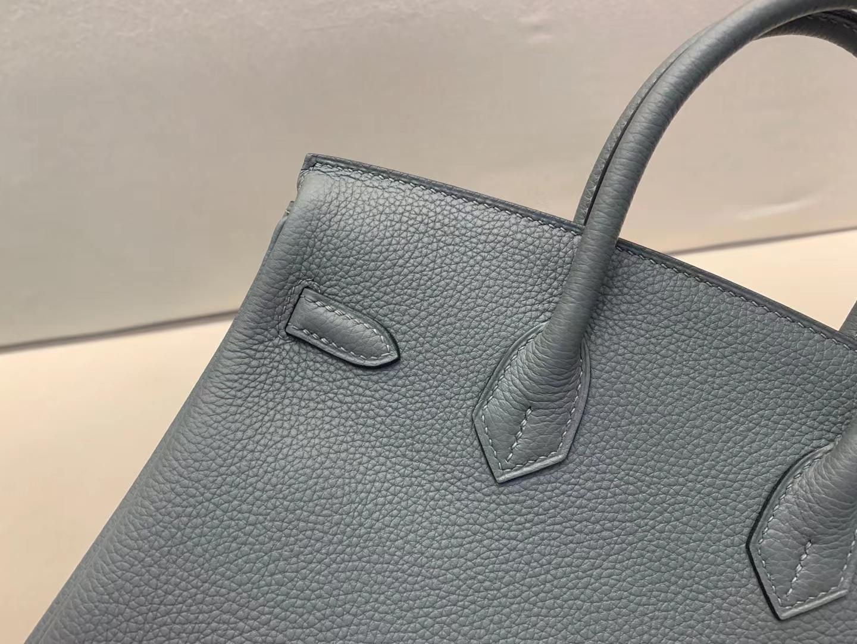 Hermès(爱马仕)Birkin 铂金包 法国togo 63 杏绿 银扣 25cm 顶级纯手工 现货