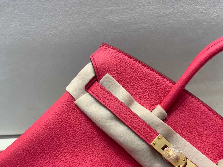 Hermès(爱马仕)birkin 铂金包 法国togo 6i 极致粉 顶级纯手工 25cm 金扣 现货