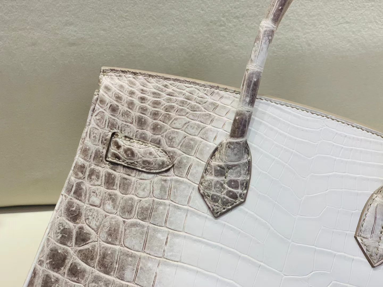 Hermès(爱马仕)birkin 铂金包 喜马拉雅 包中皇后 25cm 银扣 顶级纯手工 定制