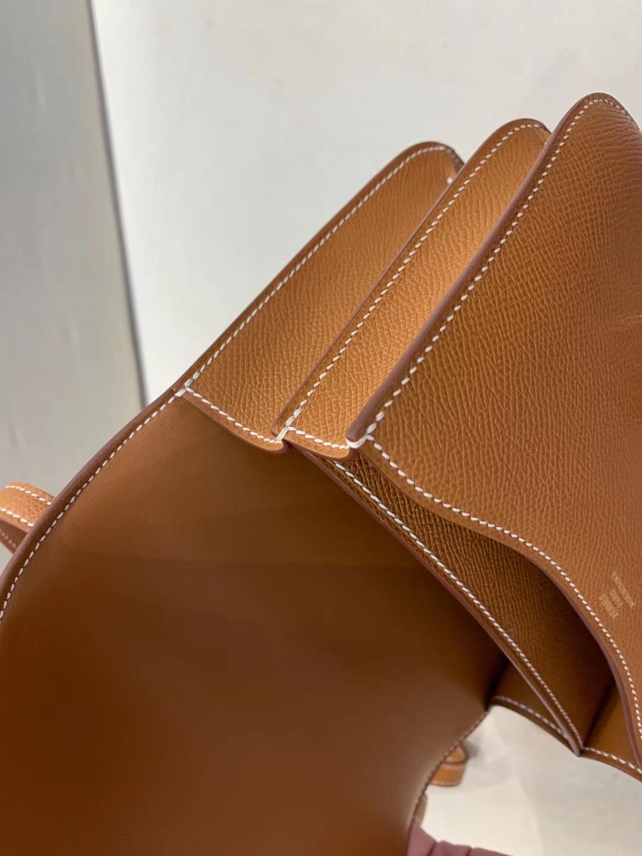 Hermès(爱马仕)Constance 空姐包 epsom ck37 金棕色 金扣 18cm 顶级纯手工 现货
