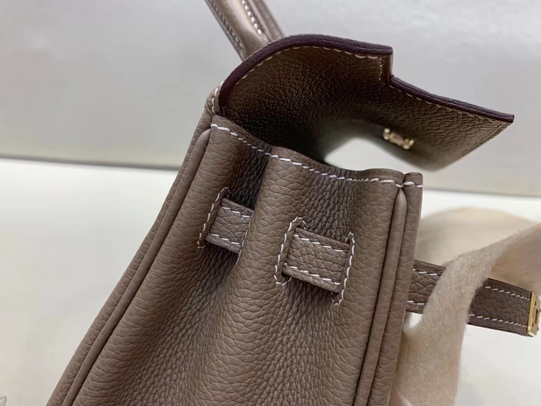 Hermès(爱马仕)Kelly 凯莉包 法国togo ck87 大象灰 金扣 25cm 顶级纯手工 现货