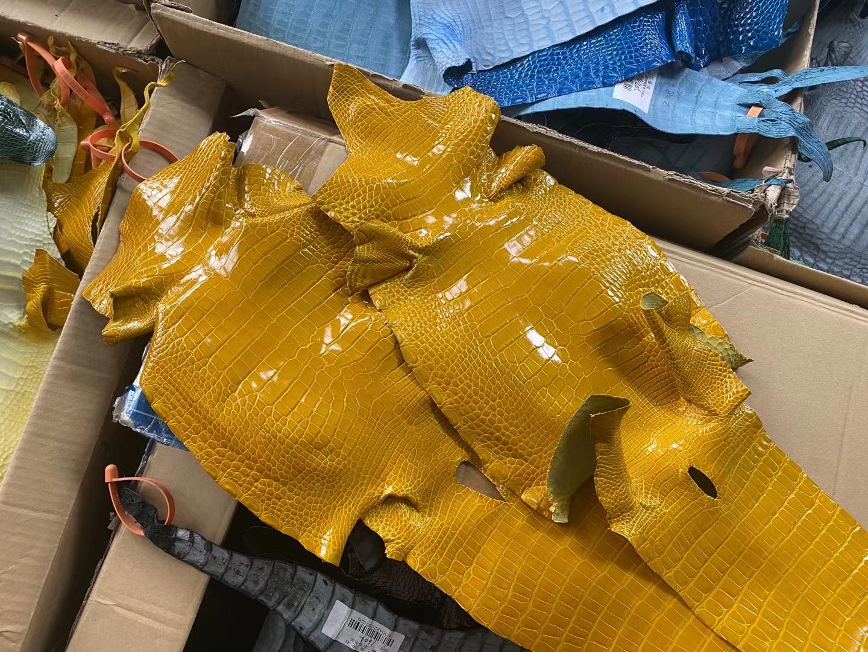 Hermès(爱马仕)新皮 新货 亮面鳄鱼 琥珀黄 可定制
