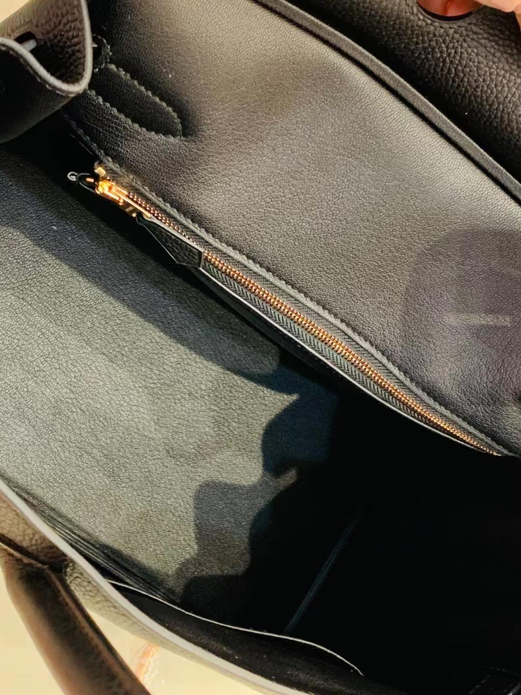 Hermès(爱马仕)birkin 铂金包 法国togo ck89 黑色 玫瑰金扣 30cm 顶级品质