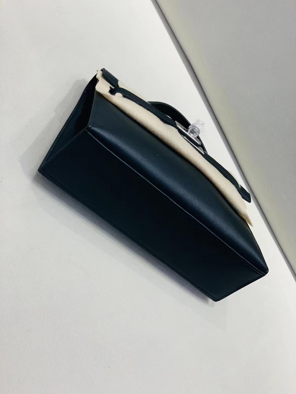Hermès(爱马仕)mini Kelly 迷你凯莉 swift 黑色 经典 一代 银扣 顶级纯手工