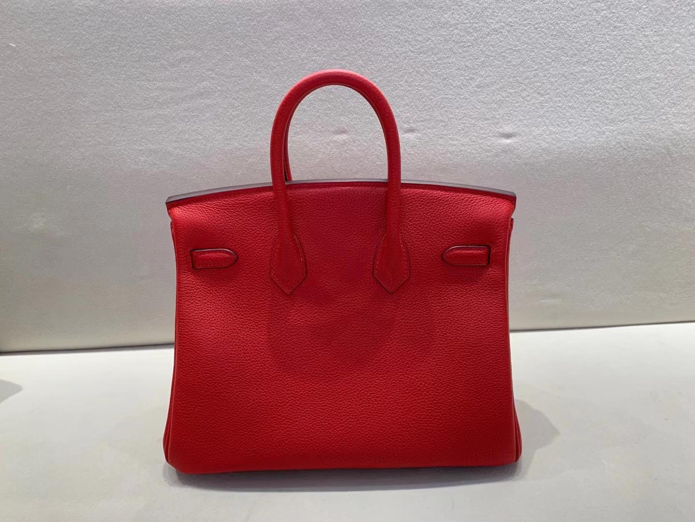 Hermès(爱马仕)birkin 铂金包 法国togo A5 杜鹃红 顶级纯手工 金扣 25cm
