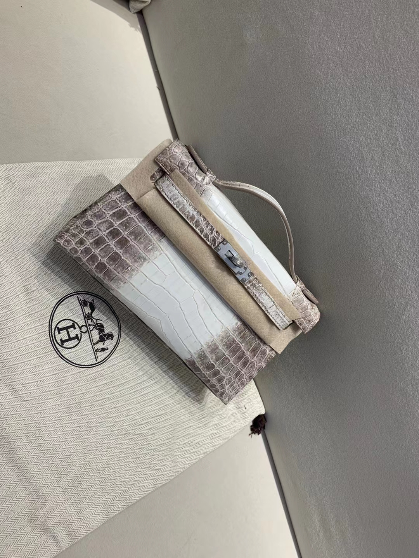 Hermès(爱马仕)miniKelly pochette 雾面鳄鱼 喜马拉雅 一代 银扣 22cm 顶级纯手工 现货