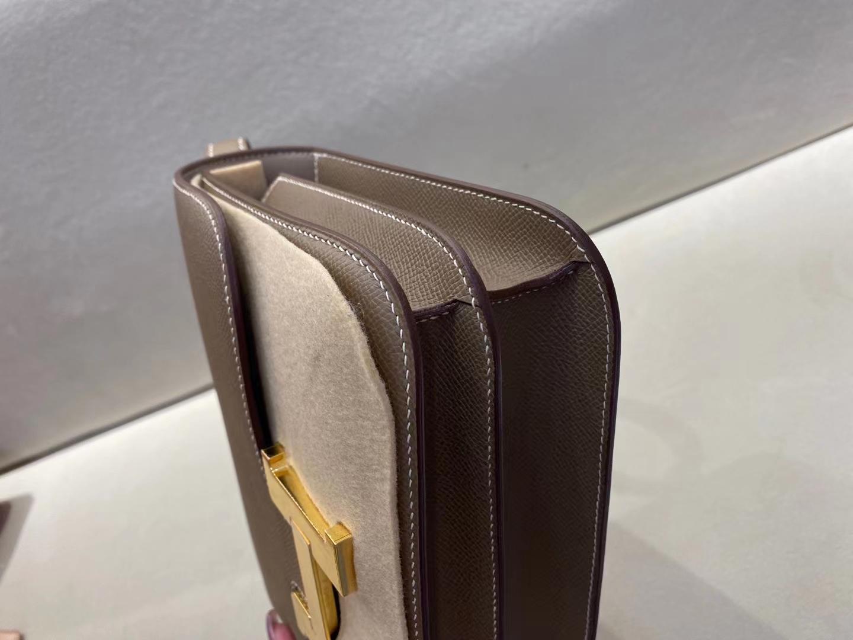 Hermès(爱马仕)Constance 空姐包 epsom ck18 大象灰 金扣 23cm 顶级纯手工 现货