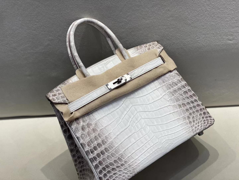 Hermès(爱马仕)birkin 铂金包 鳄鱼 喜马拉雅 银扣 30cm 顶级纯手工 现货