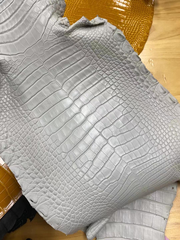 Hermès(爱马仕)新皮 雾面 美洲鳄 冰川灰 可定制