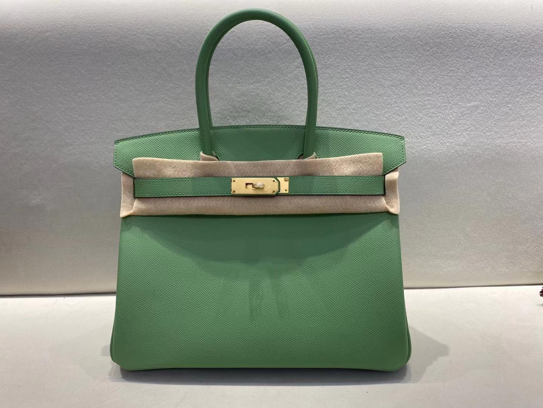 Hermès(爱马仕)Birkin 铂金包 3i 牛油果绿 epsom 金扣 30cm 顶级纯手工